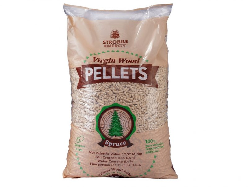 Virgin Wood Pellets, Silver Fir, 6 mm, A1 EN 14961-2, 15 kg
