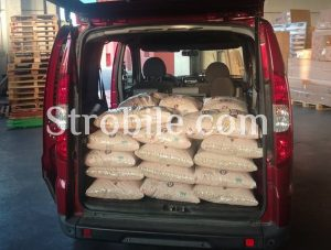 It is convenient to take the product directly from warehouse even by the small cars.